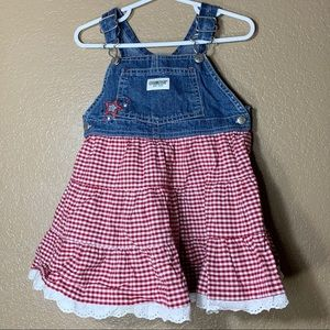 Oshkosh B'Gosh toddler girl overall dress